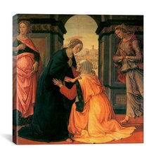 """""""The Visitation"""" Canvas Wall Art by Domenico Ghirlanaio"""