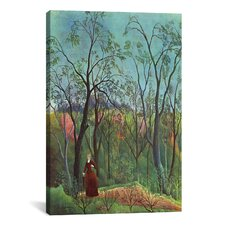 'The Walk in the Forest (Am Waldrand) 1886' by Henri Rousseau Painting Print on Canvas