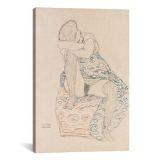 'Seated Figure with Gathered up Skirt' by Gustav Klimt Graphic Art on Canvas
