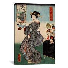 Japanese Art 'Shirahige Myojin Shrine' by Kunisada (Toyokuni) Painting Print on Canvas
