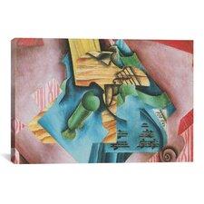 'Violon et Verre (Violin and Glass)' by Juan Gris Painting Print on Canvas