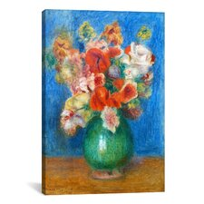 'Vase with Flowers' by Pierre-Auguste Renoir Painting Print on Canvas