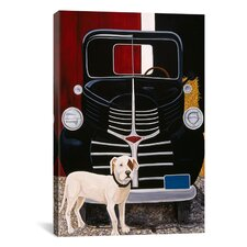 """Virgil in Front of the Ranch Truck"" Canvas Wall Art by Jan Panico"