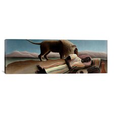 'Sleeping Gypsy' by Henri Rousseau Painting Print on Canvas