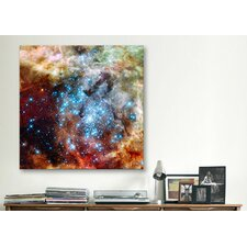 "Astronomy and Space ""Star Cluster on Collision Course"" Graphic Art on Wrapped Canvas"