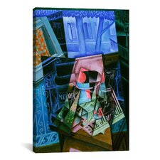 'Still Life Before an Open Window, Place Ravignan' by Juan Gris Painting Print on Canvas