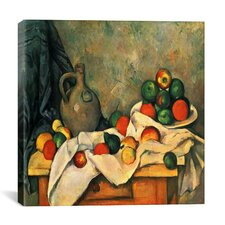 """Still Life, Drapery, Pitcher, and Fruit Bowl"" by Paul Cezanne Painting Print on Wrapped Canvas"