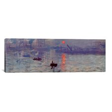 'Sunrise Impression' (Panoramic) by Claude Monet Painting Print on Wrapped Canvas