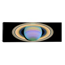 Saturn's Rings in Ultraviolet Light Graphic Art on Wrapped Canvas