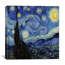 'The Starry Night' by Vincent Van Gogh Painting Print on Wrapped Canvas