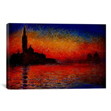 Sunset by Claude Monet Painting Print on Canvas