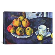 'Still Life with Apples' by Paul Cezanne Painting Print on Wrapped Canvas