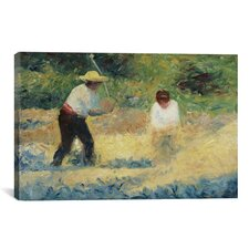 'The Stone Heap (Le Tas De Pierres)' by Georges Seurat Painting Print on Canvas