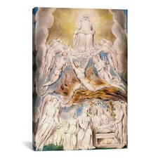 'Satan before the Throne of God' by William Blake Painting Print on Canvas