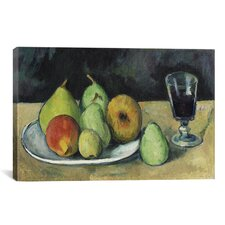 'Verre Et Poires 1879-1880' by Paul Cezanne Painting Print on Wrapped Canvas