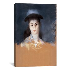 'Woman Wearing a Hat with Silk Gauze' by Edouard Manet Painting Print on Canvas