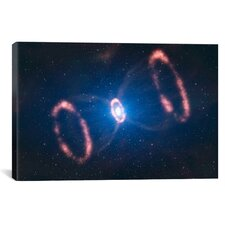 Supernova Concept of SN 1987A Graphic Art on Wrapped Canvas