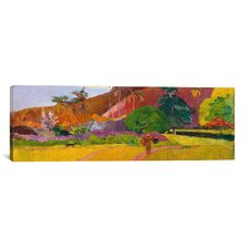 'Tahitian Landscape' by Paul Gauguin Painting Print on Wrapped Canvas