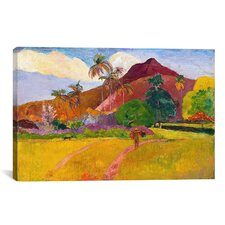 'Tahitian Landscape' by Paul Gauguin Painting Print on Canvas