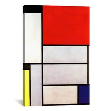 """Tableau l, 1921"" by Piet Mondrian Graphic Art on Canvas"