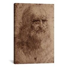 'Self-Portrait 1515' by Leonardo Da Vinci Painting Print on Canvas