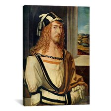 'Self-portrait' by Albrecht Dürer Painting Print on Wrapped Canvas