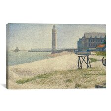 'The Lighthouse at Honfleur' by Georges Seurat Painting Print on Canvas