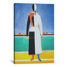 'Woman with a Rake' by Kazimir Malevich Painting Print on Canvas