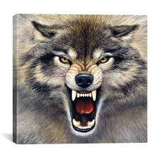 """""""Wolf"""" by Harro Maass Graphic Art on Wrapped Canvas"""