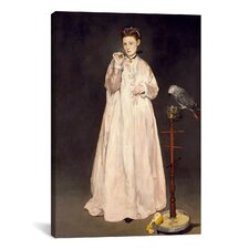'Woman with Parrot' by Edouard Manet Painting Print on Canvas