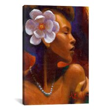 """Woman With Pearl Neclace"" Canvas Wall Art by Keith Mallett"