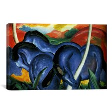 'The Large Blue Horse' by Franz Marc Painting Print on Canvas