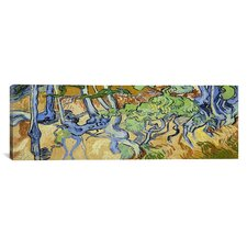 'Tree-Roots' Panoramic by Vincent Van Gogh Painting Print on Canvas