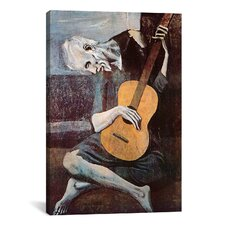 'The Old Guitarist' by Pablo Picasso Painting Print on Wrapped Canvas