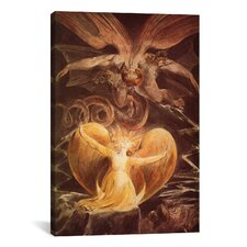 'The Great Red Dragon and the Woman Clothed with Sun 1805' by William Blake Painting Print on Wrapped Canvas