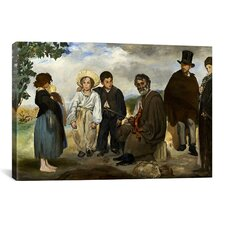 'The Old Musician' by Edouard Manet Painting Print on Canvas