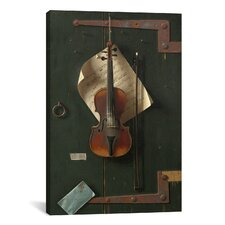 'The Old Violin' by William Michael Harnett Photographic Print on Canvas