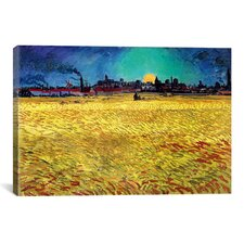 'Sommerabend' by Vincent Van Gogh Painting Print on Wrapped Canvas