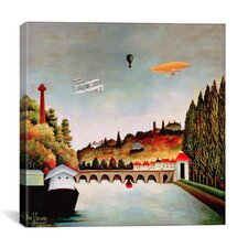 """""""View of the Bridge at Sevres"""" Canvas Wall Art by Henri Rousseau"""