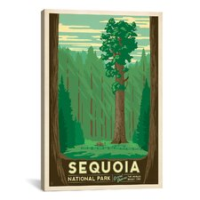 Anderson Design Group Sequoia National Park Vintage Advertisment on Canvas