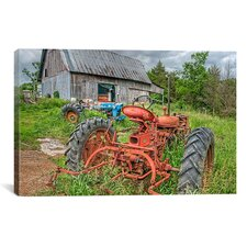 'Tractors in Weeds' by Bob Rouse Photographic Print on Canvas