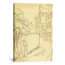 'Une Rue Montmartre' by Juan Gris Painting Print on Canvas