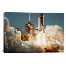Space Shuttle Challanger Lift off (1983) Photographic Print on Wrapped Canvas