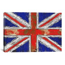 'UK Vintage' Wood Graphic Art on Wrapped Canvas
