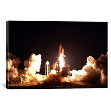 Space Shuttle Endeavour Launch Photographic Print on Wrapped Canvas
