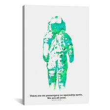 'Spaceship Canvas' by Budi Satria Kwan Graphic Art on Wrapped Canvas