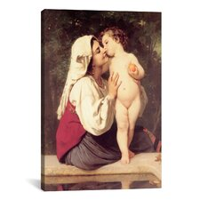 'The Kiss (Le Baiser)' by William-Adolphe Bouguereau Painting Print on Wrapped Canvas