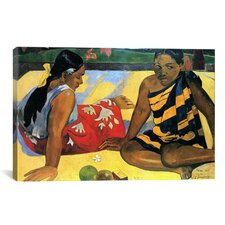 'Two Women Sitting' by Paul Gauguin Painting Print on Wrapped Canvas