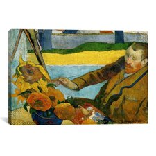 'Vincent Van Gogh Painting Sun Flowers' by Paul Gauguin Painting Print on Canvas