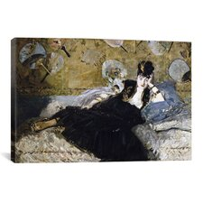 'The Lady with Fans (Nina de Callias)' by Edouard Manet Painting Print on Canvas